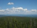 Панорама с вышки. Юго-восток. Жергоконский голец (Ледянка) высотой 1942 м
