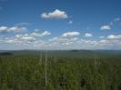 Панорама с вышки. Восток. Вершины Малханского хребта. Слева Черемховский перевал и метеостанция