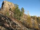 Главный останец (1180 м) с северо-запада