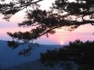 Заход солнца от подножия Камня. Апрель